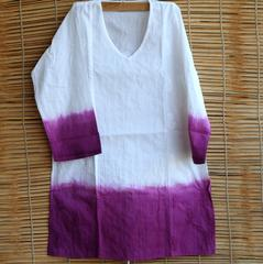 Chikankaari - Short Kurta -Ombre Purple