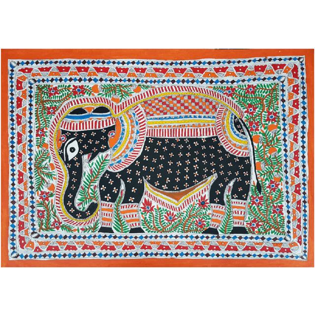 Madhubani Painting - Gajaraj