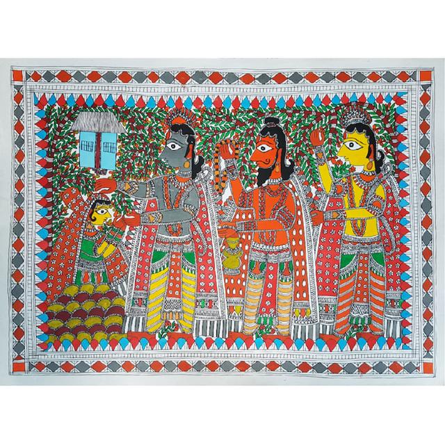 Madhubani Painting - Ahalya Uddharan