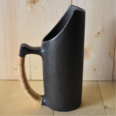 Jug with Cane Wrapped Handle