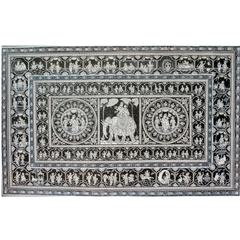 Pattachitra - Kandarpa, Krishna, Gopikas and Life Story