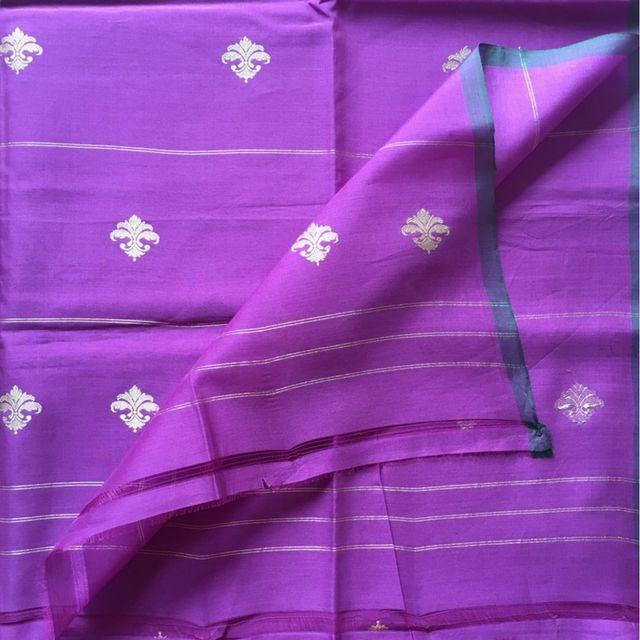 Purple Cotton Silk Dupatta