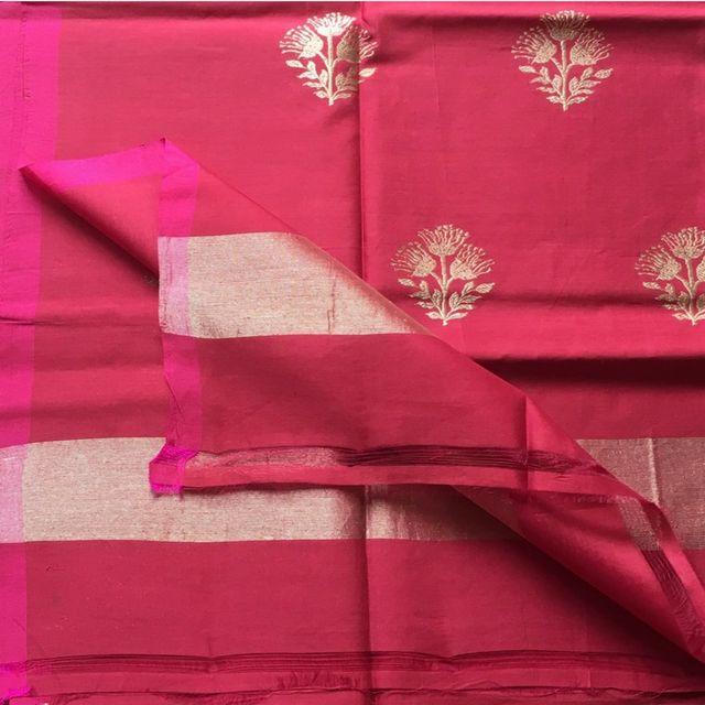 Maroon Cotton Silk Dupatta