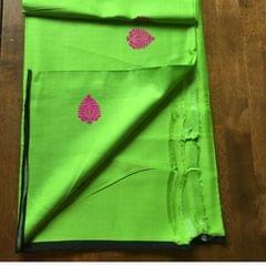 Green Cotton Silk Dupatta