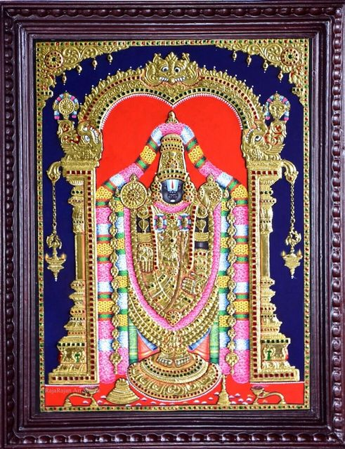 Lord Venkateshwara - Tanjore painting