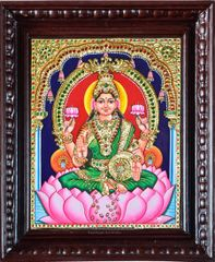 Lakshmi with Pot of Gold - Tanjore Painting