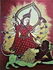 Baatik Painting - Maa Durga