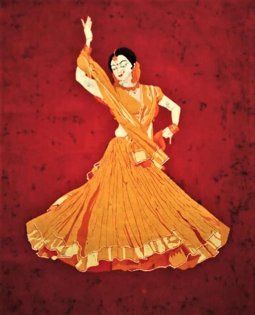 Baatik Painting - Kathak Dancer