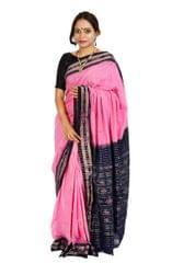 Rekha Buti Saree Pink And Royal Blue