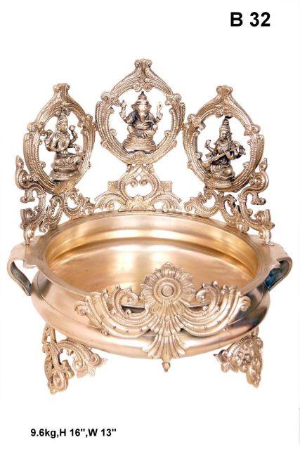 Lakshmi, Ganesha And Saraswati Urli