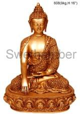 Brass Buddha - Medium