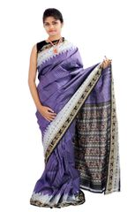Sambalpuri Sachipar in Purple and Black