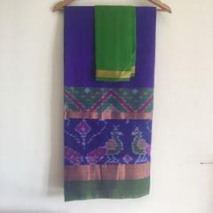 Uppada Blue Silk with Pochampally Border