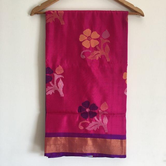 """Saree """"Uppada Jamdani - Pink and Purple"""""""