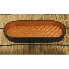 Bamboo Olive Tray Orange