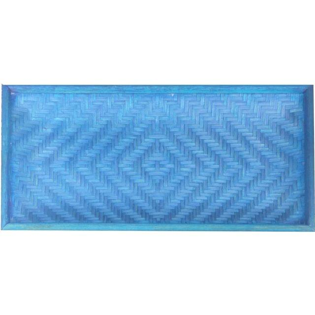 Bamboo Cereal Tray  - Blue