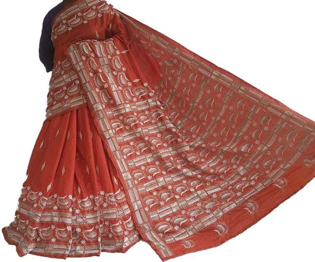 Kantha - Kairis On Orange Silk