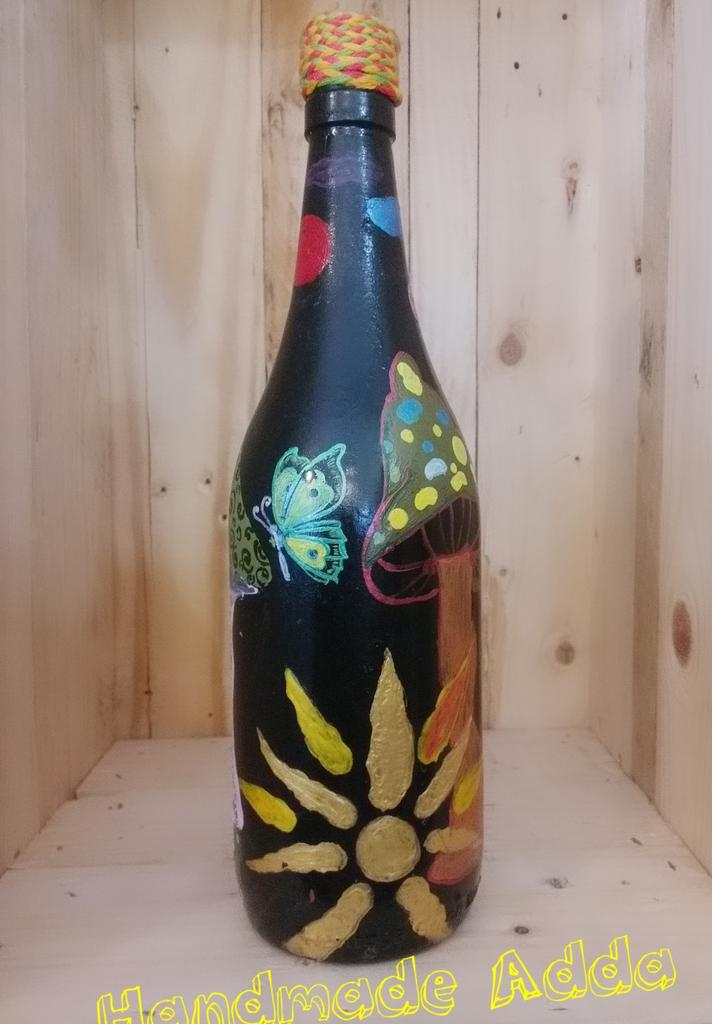Recycled Handpainted Bottle