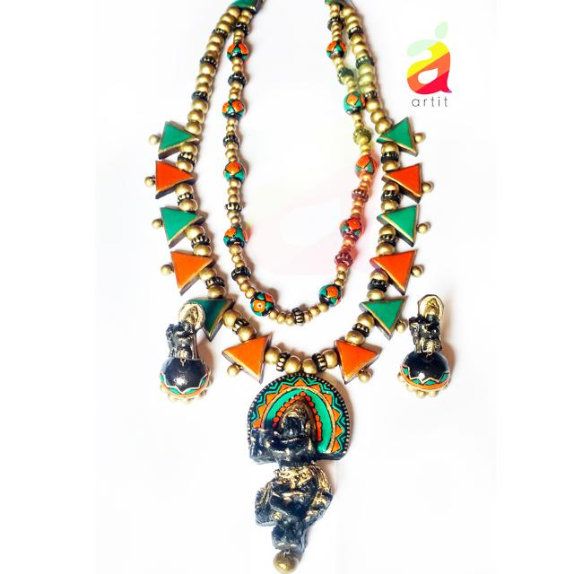 TERRACOTTA KRISHNA NECKLACE