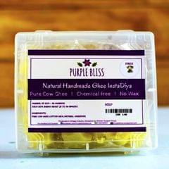 Natural and Handmade Pure Ghee Insta Diya  - 30 Nos. with 1 free Steel Diya  - Standard Pack