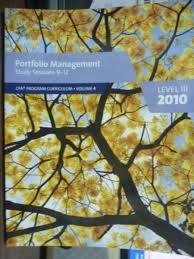 Portfolio Management Study Sessions 9-12