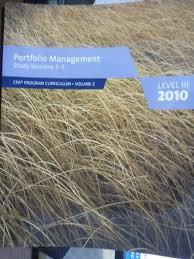 Portfolio Management Study Sessions 3-5