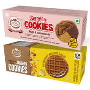 Organic Dry Fruit & Ragi Amaranth Jaggery Cookies (Assorted Pack of 2)