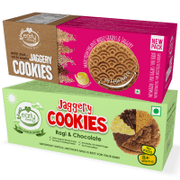 Multigrain Millet & Ragi Choco Jaggery Cookies (Assorted Pack of 2)