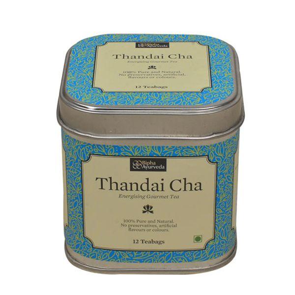 Thandai Chai - Energizing Gourmet Tea (12 Tea Bags)