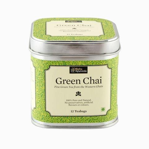 Green Chai - Fine Green Tea (12 Tea Bags)