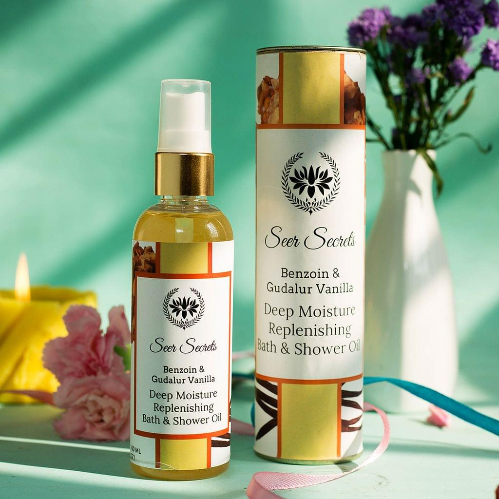Benzoin & Gudalur Vanilla Deep Moisture Replenishing Bath & Shower Oil - 100 ml