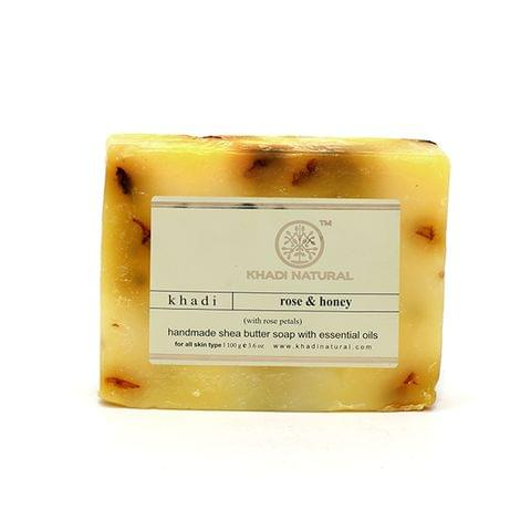 Rose Honey With Rose Petals Soap - 100  gm
