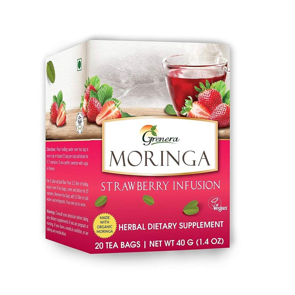 Moringa Strawberry Tea (20 Tea bags / box) - 40 gms