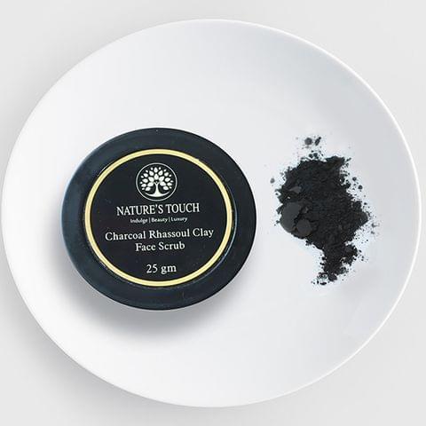Charcoal Rhassoul Clay Face Scrub - 25 gms