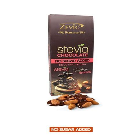 Stevia Chocolate with Roasted Almonds - 40 gm