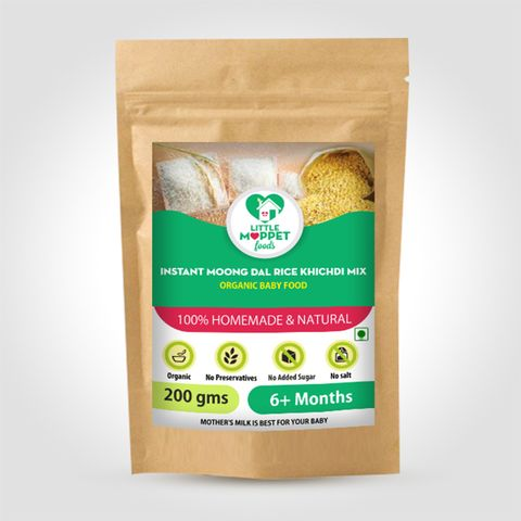 Instant Rice Khichdi Powder (with Moongdal) - 200 gm