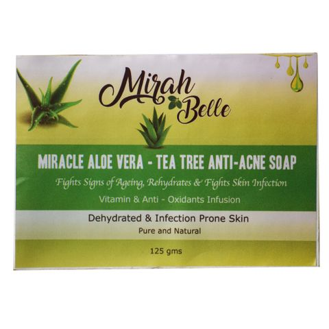 Miracle Aloe Vera & Tea Tree Anti Acne Soap - 125 gm