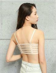 Cream Caged Bra For Women