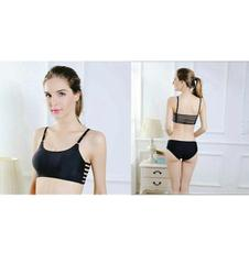 Black Caged Bra For Women