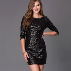 Melange Black Sequin Dress