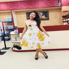 Melange Floral Print Dress