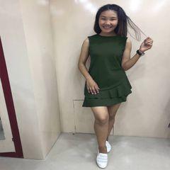 Melange One Piece Sleeveless Skirt For women