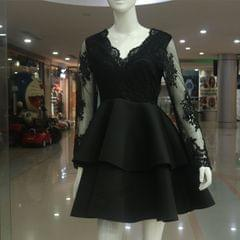Melange Black Skirt For Ladies