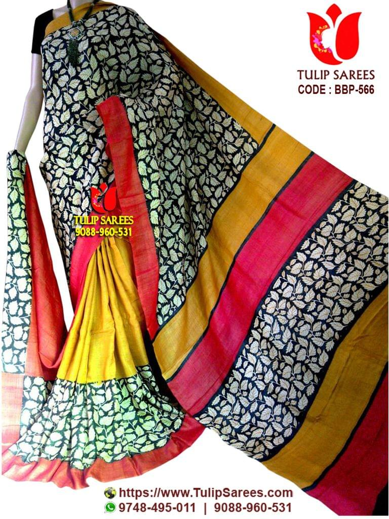 Bishnupuri Silk   Block Printed