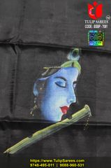 BP (unstiched) on Bishnupuri 3ply Silk (Hand-painted)