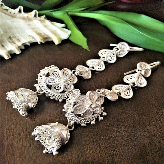 Silver Filigree Traditional Kaanphool