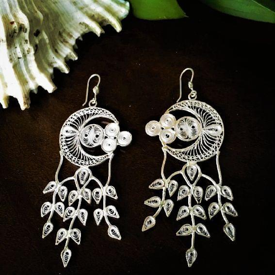Silver Filigree Fusion Earrings
