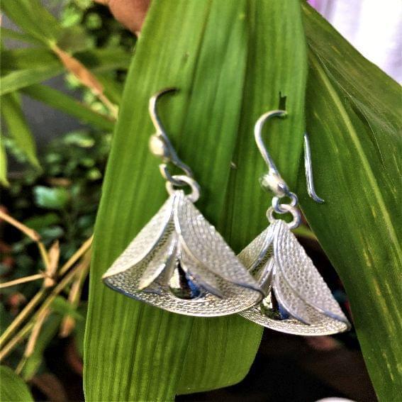 Silver Filigree Big Buddy Earrings