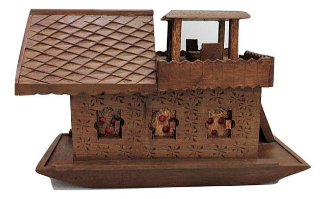 IndicHues Wooden Handcrafted Houseboat from Kashmir