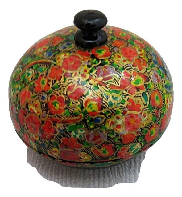 IndicHues handmade Paper Mache Trinket Box / Jewelry Storage case from Kashmir